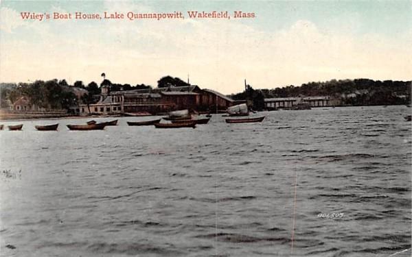Wiley's Boat House Wakefield, Massachusetts Postcard