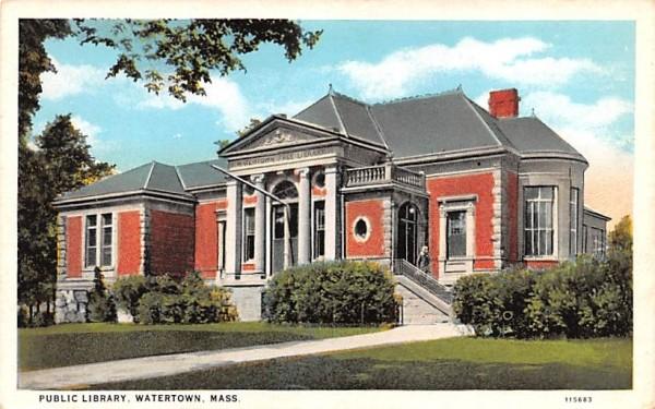 Public Library Watertown, Massachusetts Postcard