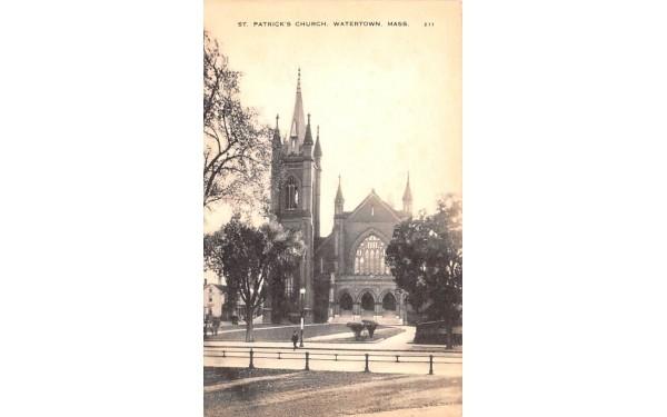 St. Patrick's Church Watertown, Massachusetts Postcard