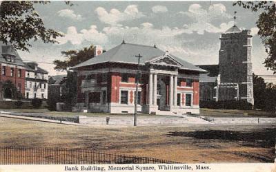 Bank Building Whitinsville, Massachusetts Postcard