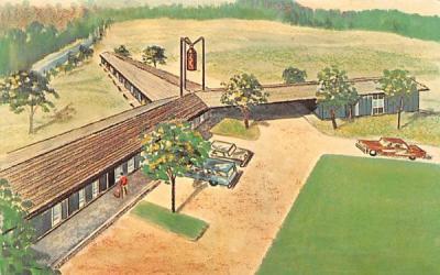 Copper Lantern Motor Lodge West Brookfield, Massachusetts Postcard