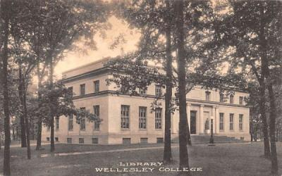 Library Wellesley, Massachusetts Postcard