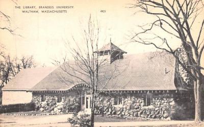 The Library Waltham, Massachusetts Postcard
