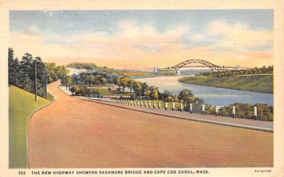 The New Highway  Wareham, Massachusetts Postcard