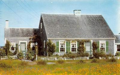 A 1730 Cape Cod House West Yarmouth, Massachusetts Postcard