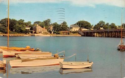 A Scene of Bass River West Dennis, Massachusetts Postcard