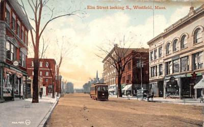 Elm Street Westfield, Massachusetts Postcard
