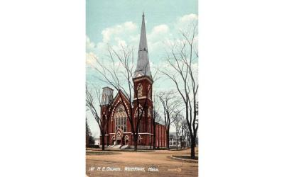 1st M. E. Church Westfield, Massachusetts Postcard