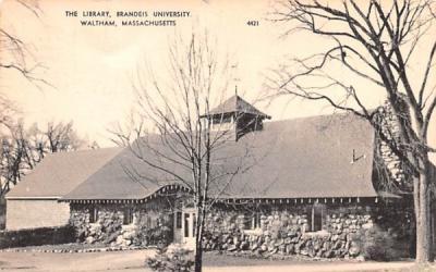 The Library, Brandeis University Waltham, Massachusetts Postcard