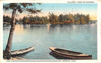 Killdeer from the Narrows Webster, Massachusetts Postcard