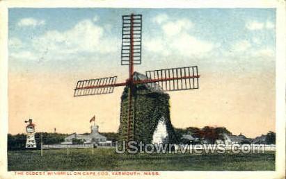 The Oldest Windmill - Yarmouth, Massachusetts MA Postcard