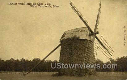 The Oldest Windmill - West Yarmouth, Massachusetts MA Postcard
