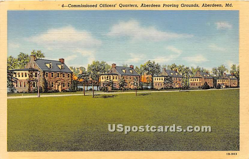 Commissioned Officers' Quarters - Aberdeen, Maryland MD Postcard