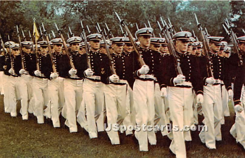 Brigade of Midshipmen on Parade, US Naval Academy - Annapolis, Maryland MD Postcard