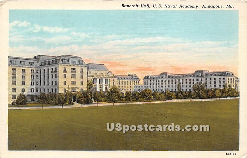 Bancroft Hall, US Naval Academy - Annapolis, Maryland MD Postcard