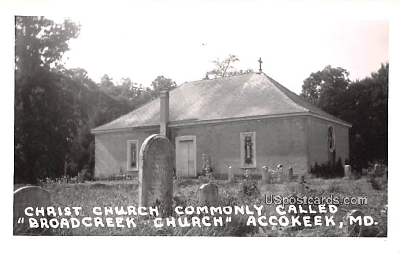 Christ Church Commonly Called Broadcreek Church - Accokeek, Maryland MD Postcard