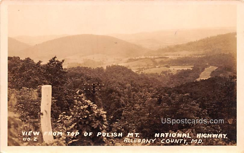 View from Top of Polish Mountain - Allegany County, Maryland MD Postcard