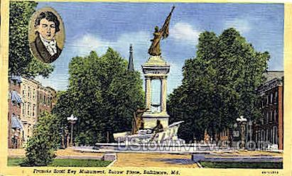 Eutaw Place - Baltimore, Maryland MD Postcard