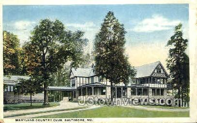 Maryland Country Club - Baltimore Postcard