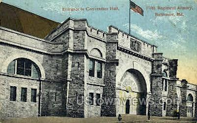 Entrance, Convention Hall - Baltimore, Maryland MD Postcard