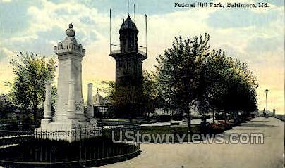 Federal Hill Park - Baltimore, Maryland MD Postcard