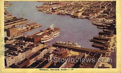 Harbor - Baltimore, Maryland MD Postcard