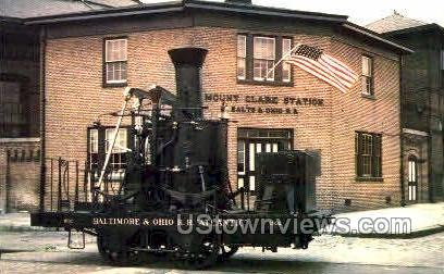 Ohio Transportation Museum - Baltimore, Maryland MD Postcard