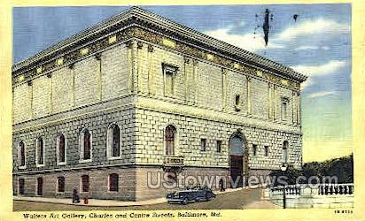 Walters Art Gallery - Baltimore, Maryland MD Postcard