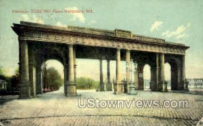 Entrance, Druid Hill Park - Baltimore, Maryland MD Postcard