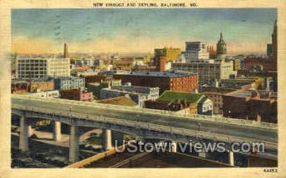 Viaduct - Baltimore, Maryland MD Postcard