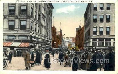 Lexington St. - Baltimore, Maryland MD Postcard