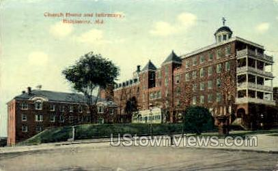 Church Home & Infirmary - Baltimore, Maryland MD Postcard