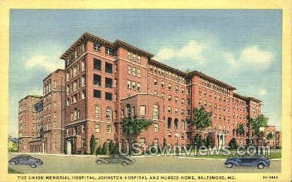 Union Memorial Hospital - Baltimore, Maryland MD Postcard