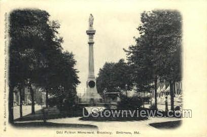 Odd Fellows Monument - Baltimore, Maryland MD Postcard