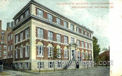 Dental Pharmacy & Laboratory - Baltimore, Maryland MD Postcard