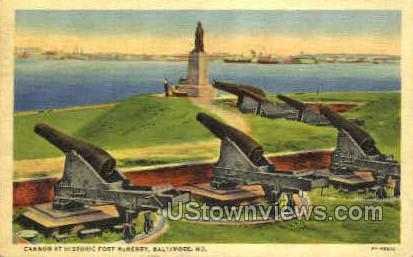 Cannon Historic Fort McHenry - Baltimore, Maryland MD Postcard