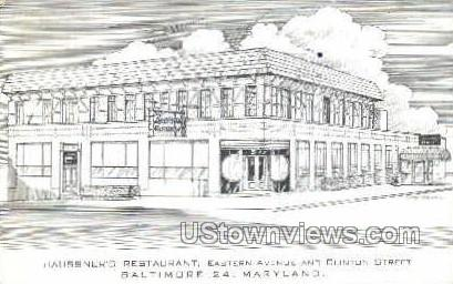haussner's Restaurant - Baltimore, Maryland MD Postcard