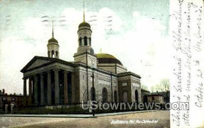 The Cathedral - Baltimore, Maryland MD Postcard