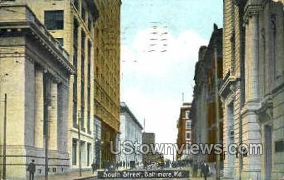 South St. - Baltimore, Maryland MD Postcard