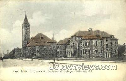 First M.E. Church - Baltimore, Maryland MD Postcard