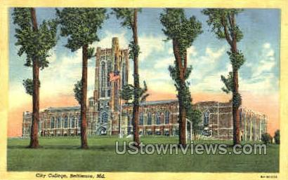 City College - Baltimore, Maryland MD Postcard