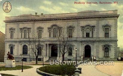 Peabody Institute - Baltimore, Maryland MD Postcard