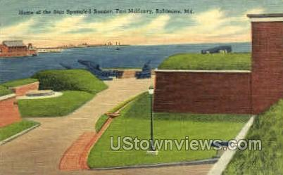 Fort McHenry - Baltimore, Maryland MD Postcard