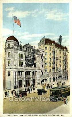 Maryland Theatre - Baltimore Postcard