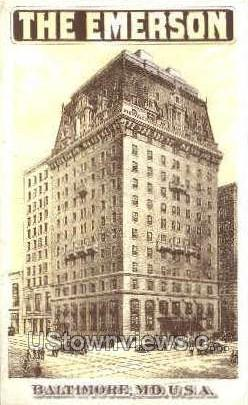 The Emerson Hotel - Baltimore, Maryland MD Postcard