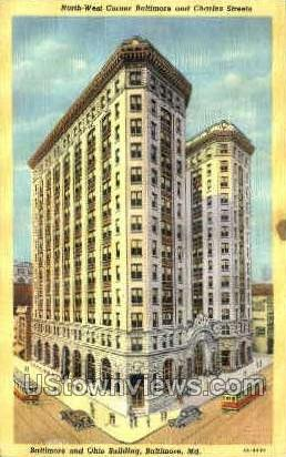 Baltimore & Ohio Building - Maryland MD Postcard