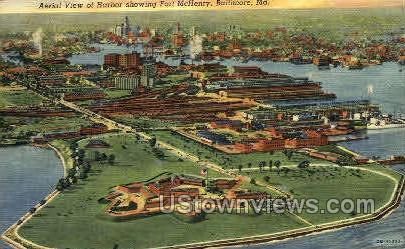Harbor & Fort McHenry - Baltimore, Maryland MD Postcard