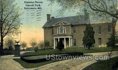 Mansion House, Carroll Park - Baltimore, Maryland MD Postcard