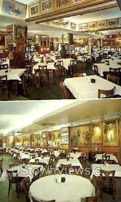 Interior, Haussner's Restaruant - Baltimore, Maryland MD Postcard
