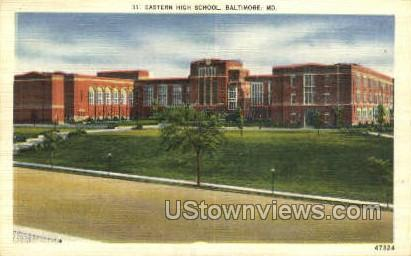 Eastern High School - Baltimore, Maryland MD Postcard